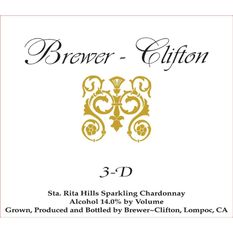 Brewer-Clifton 3D Chardonnay 2017  Front Label