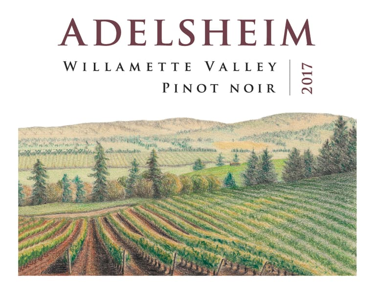Adelsheim Pinot Noir (375ML half-bottle) 2017 Front Label