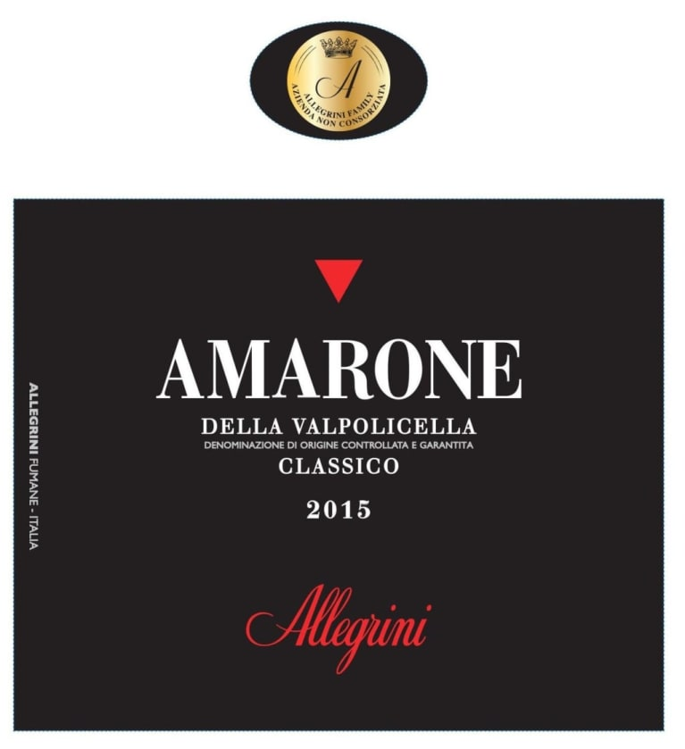 Allegrini Amarone 2015  Front Label