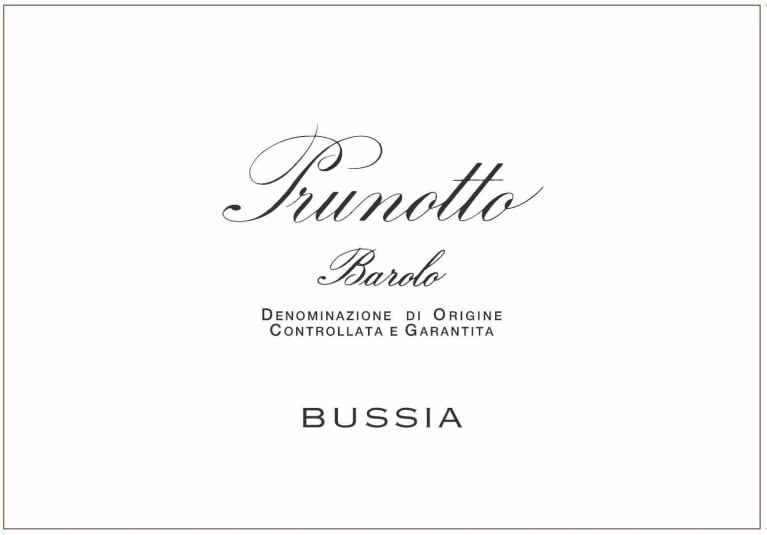 Prunotto Bussia Barolo 2011  Front Label