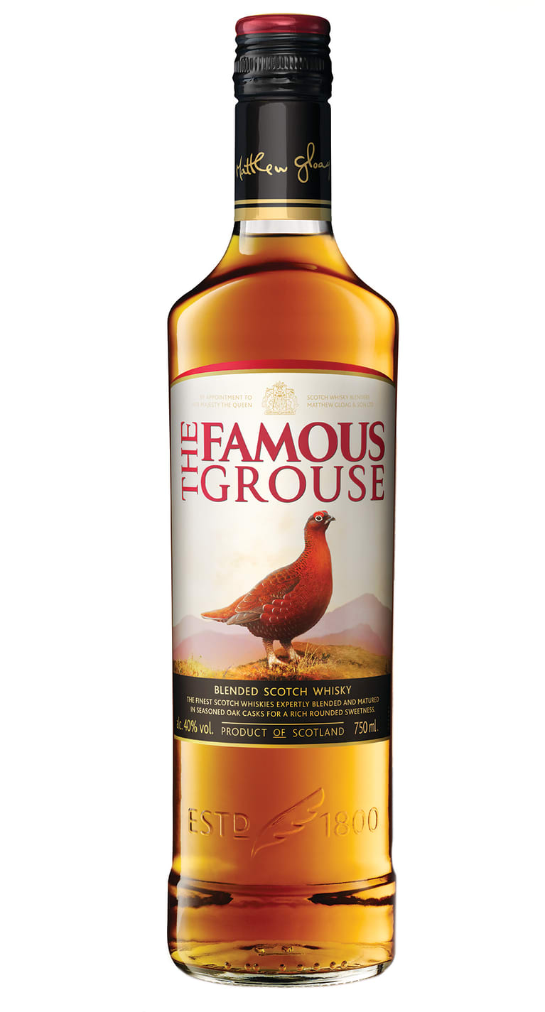 Famous Grouse Blended Scotch Whisky Front Bottle Shot