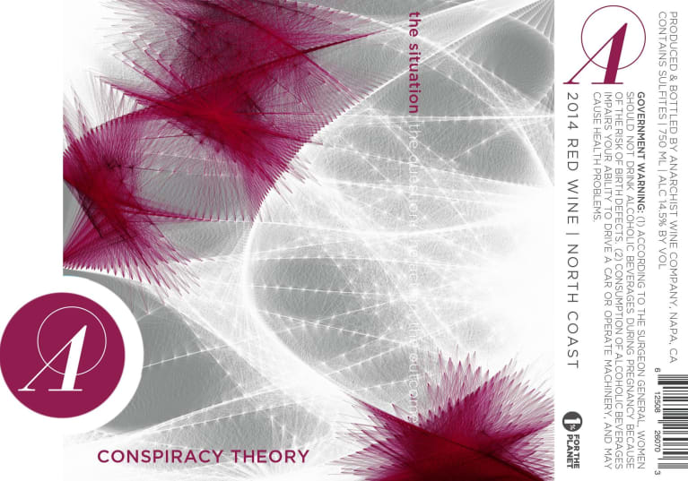 Anarchist Wine Co. Conspiracy Theory 2014  Front Label