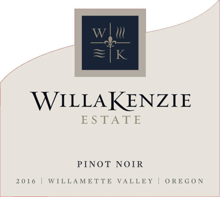 WillaKenzie Estate Willamette Valley Pinot Noir 2016 Front Label