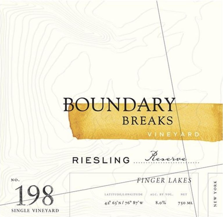 Boundary Breaks No.198 Reserve Riesling 2018  Front Label