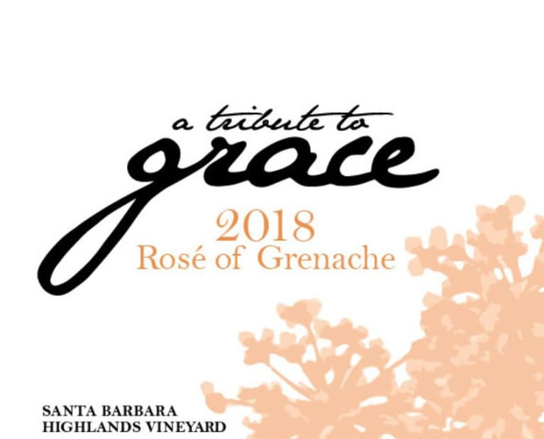 A Tribute to Grace Santa Barbara Highlands Vineyard Rose of Grenache (1.5 Liter Magnum) 2018 Front Label