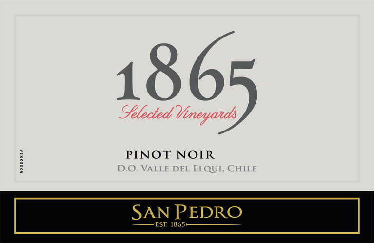 1865 Selected Vineyard Pinot Noir 2018  Front Label