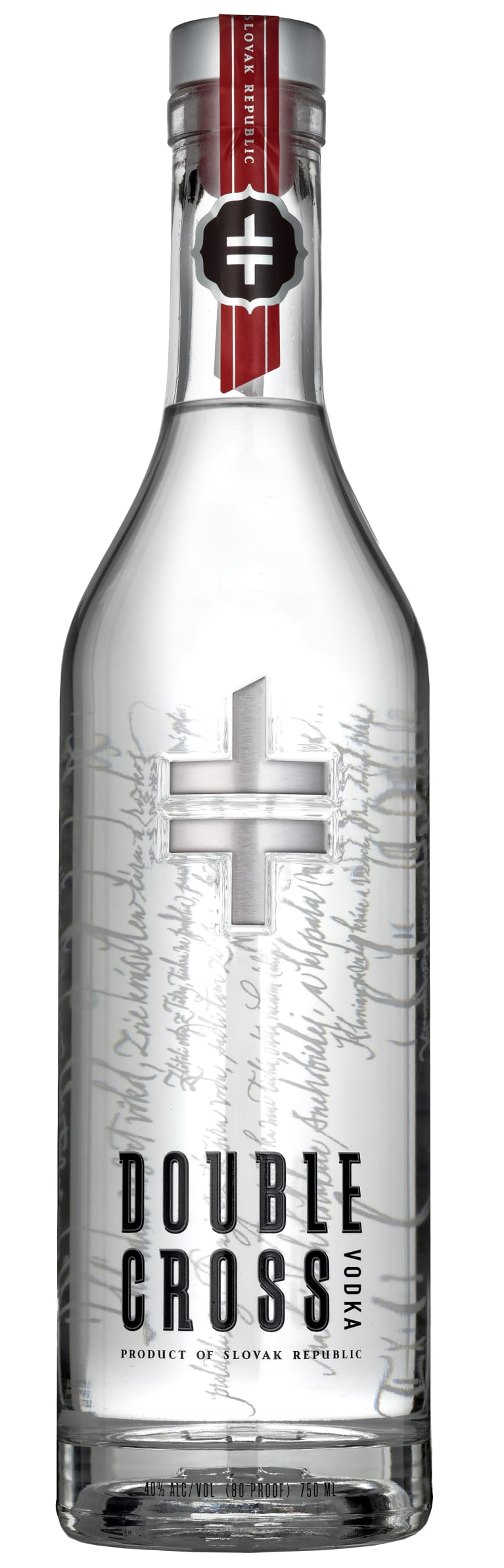 Double Cross Vodka  Front Bottle Shot