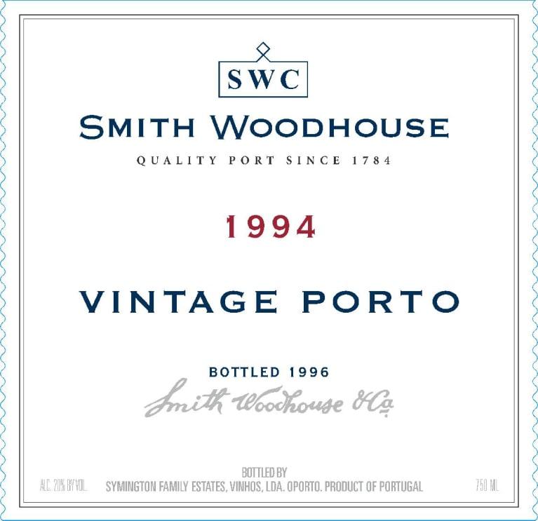 Smith Woodhouse Vintage Port 1994 Front Label