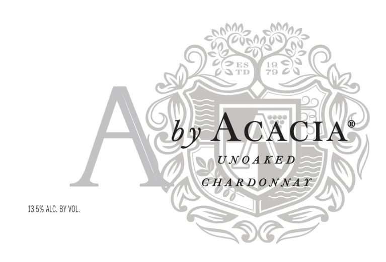 A by Acacia Unoaked Chardonnay 2017 Front Label