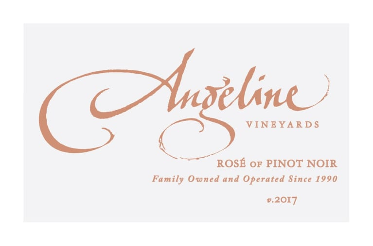 Angeline Rose of Pinot Noir 2017 Front Label