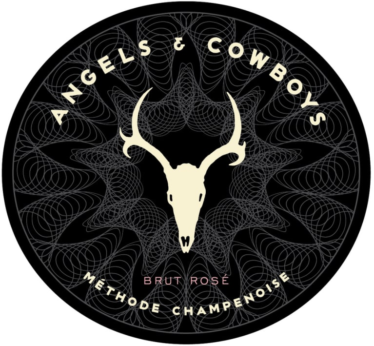 Angels & Cowboys Brut Rose  Front Label