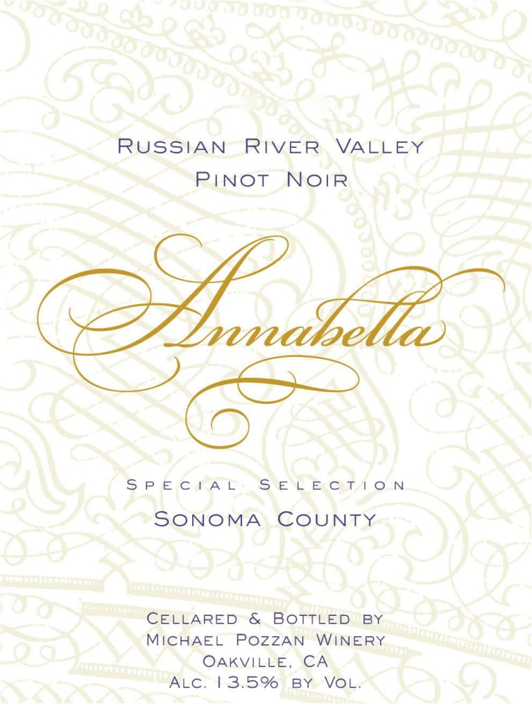 Annabella Russian River Pinot Noir 2017  Front Label