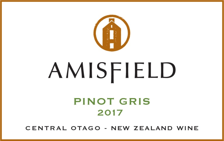 Amisfield Pinot Gris 2017  Front Label