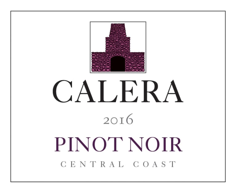 Calera Central Coast Pinot Noir 2016 Front Label