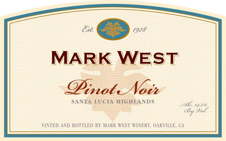 Mark West Santa Lucia Highlands Pinot Noir 2016 Front Label