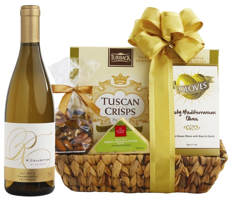 wine.com Raymond R Chardonnay & Cheese Gift Basket  Gift Product Image