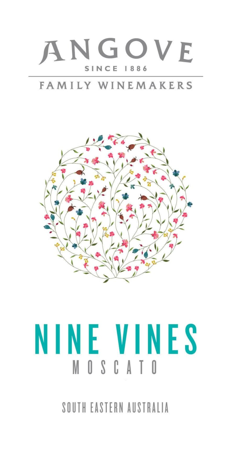 Angove Family Winemakers Nine Vines Moscato 2018 Front Label