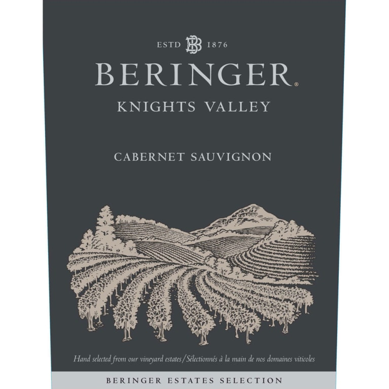 Beringer Knights Valley Cabernet Sauvignon 2017  Front Label