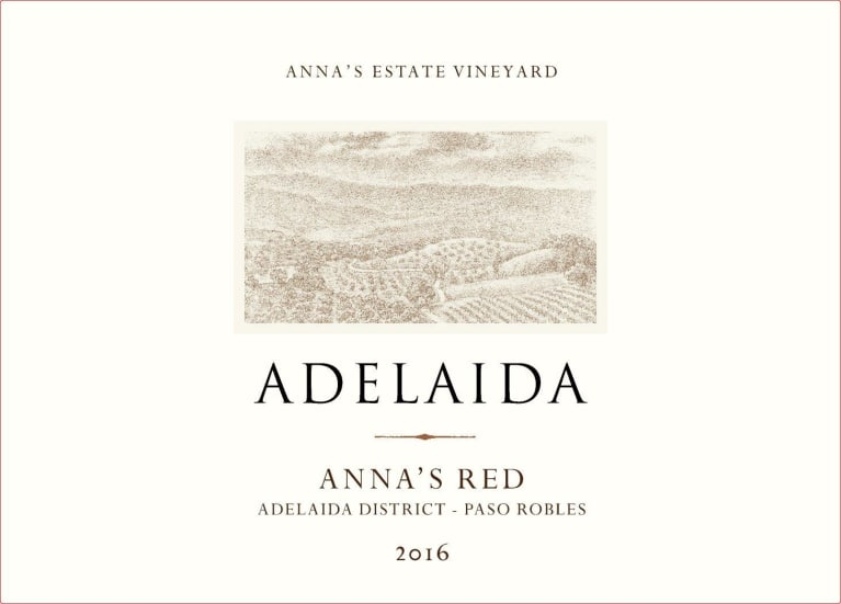 Adelaida Anna's Red 2016  Front Label