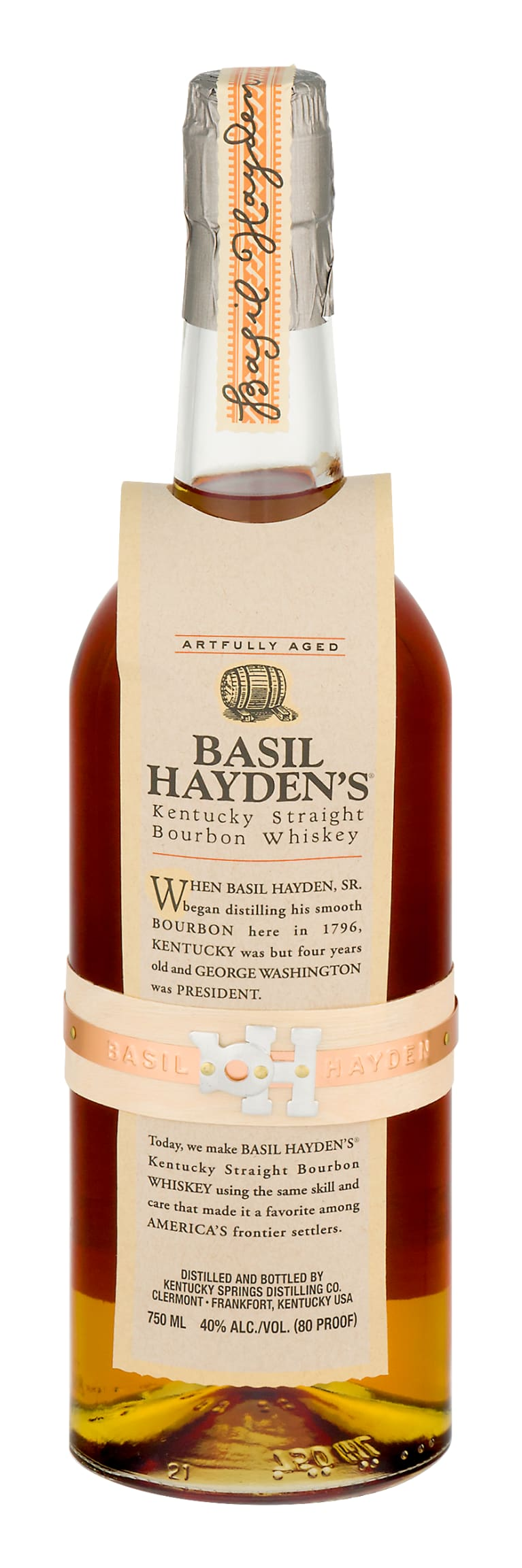 Basil Hayden's Kentucky Straight Bourbon Whiskey Front Bottle Shot