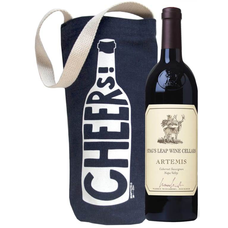 wine.com Stag's Leap Artemis Cabernet Sauvignon & Cheers! Wine Tote  Gift Product Image