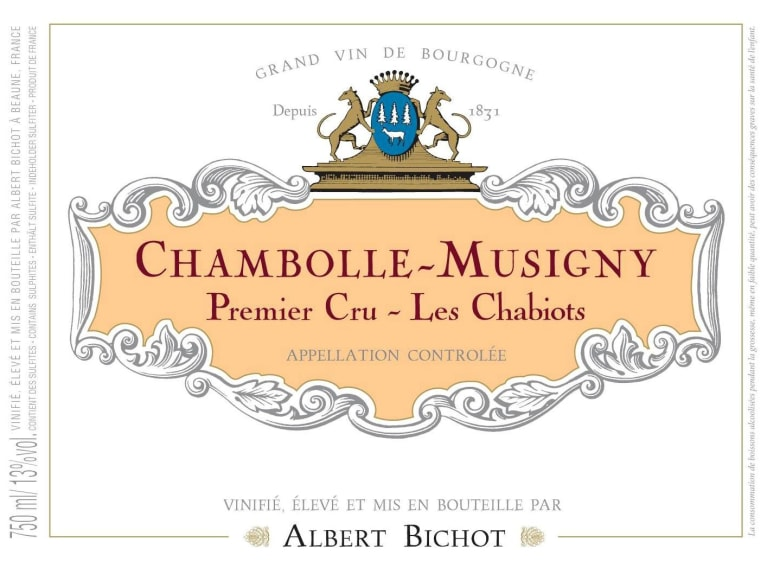 Albert Bichot Chambolle-Musigny Les Chabiots Premier Cru 2018  Front Label