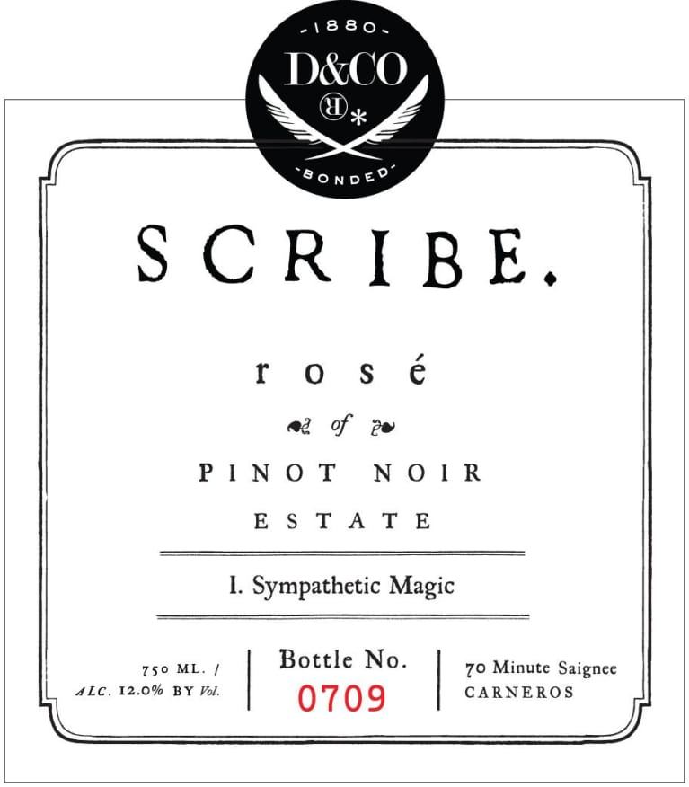 Scribe Rose of Pinot Noir 2017  Front Label