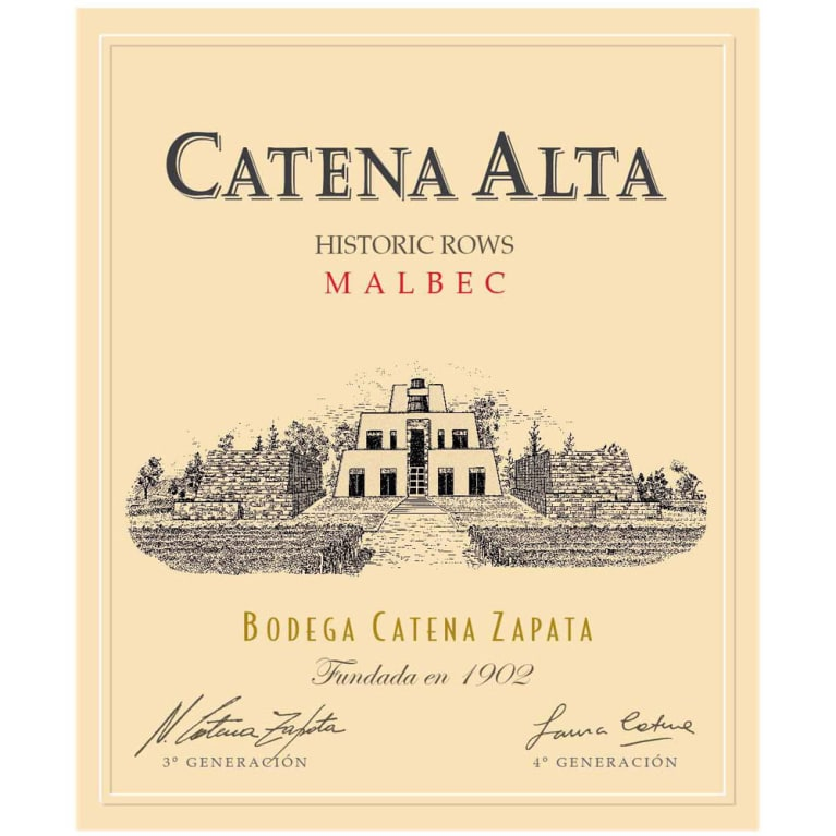 Catena Alta Malbec 2015  Front Label