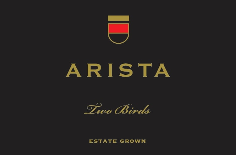 Arista Winery Pinot Noir Estate Grown Two Birds Vineyard 2014  Front Label