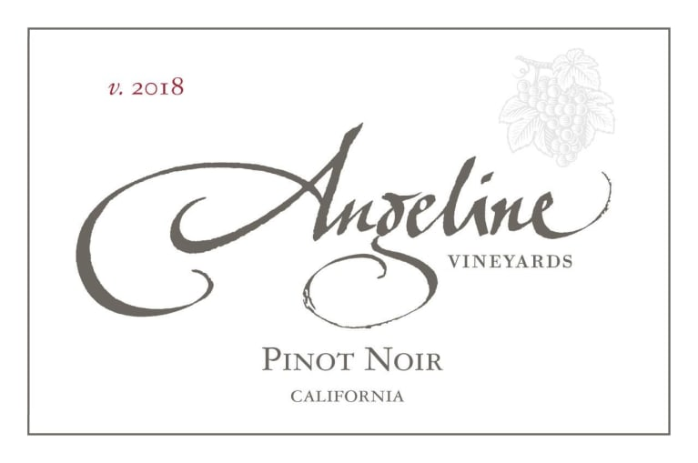 Angeline California Pinot Noir 2018  Front Label
