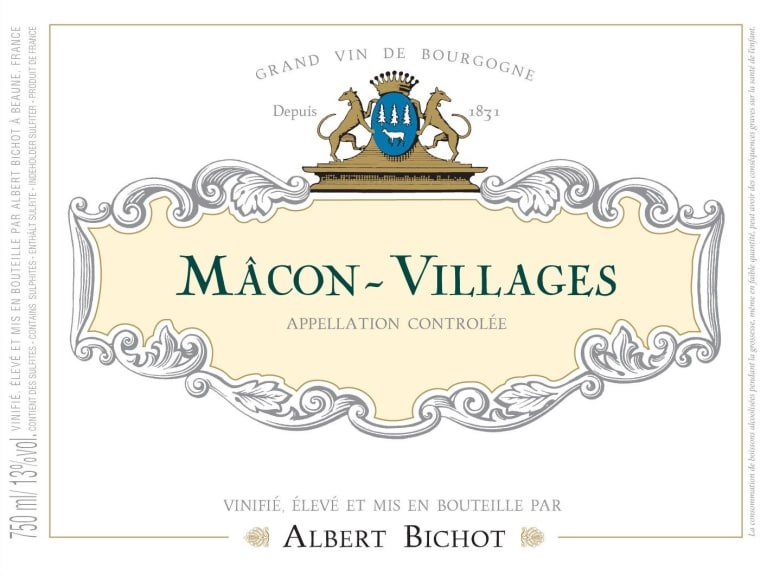 Albert Bichot Macon-Villages 2016  Front Label