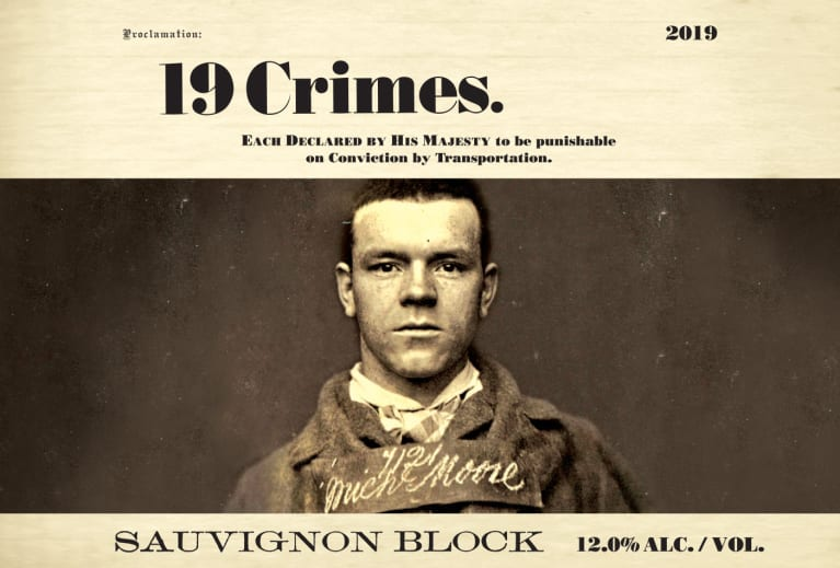 19 Crimes The Block Sauvignon Blanc 2019  Front Label