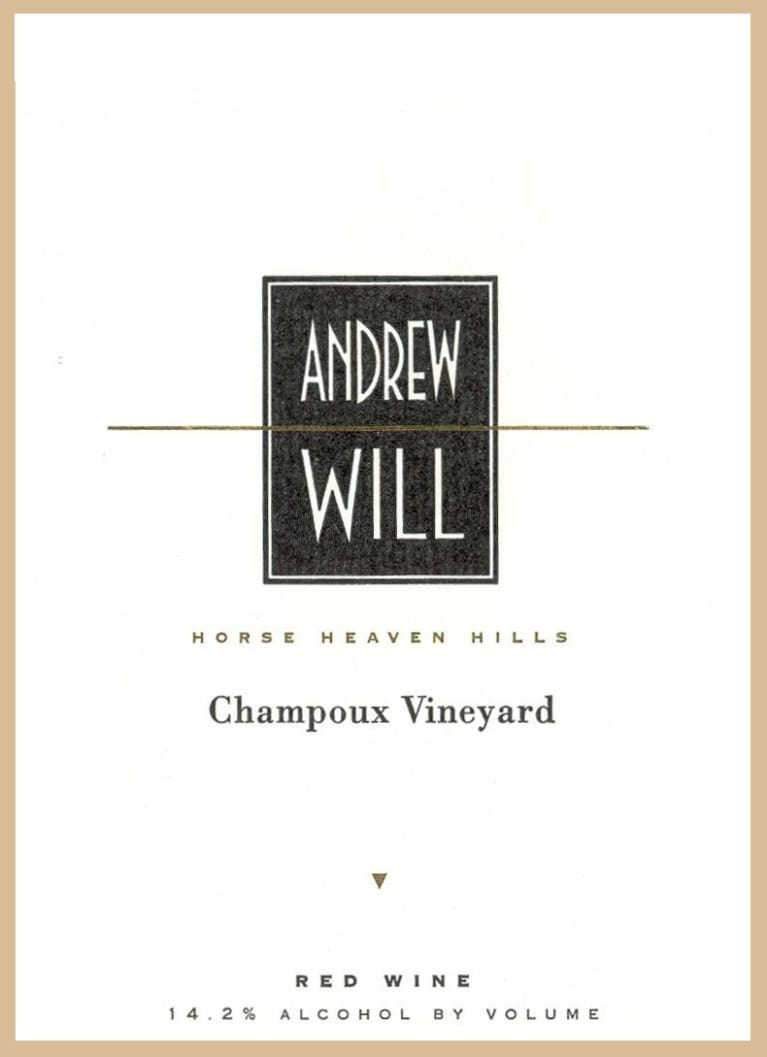 Andrew Will Winery Champoux Vineyard Horse Heaven Hills 2014 Front Label