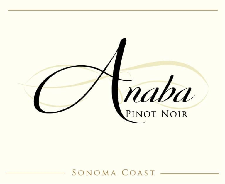 Anaba Sonoma Coast Pinot Noir 2017  Front Label