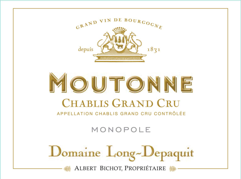 Albert Bichot Chablis Domaine Long-Depaquit Moutonne Grand Cru Monopole  2013  Front Label