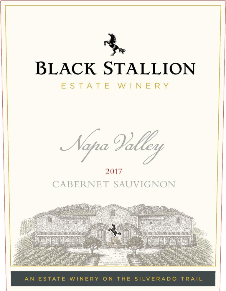 Black Stallion Winery Cabernet Sauvignon 2017  Front Label