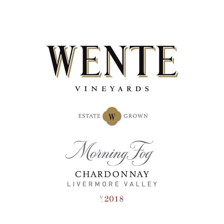 Wente Morning Fog Chardonnay 2018  Front Label