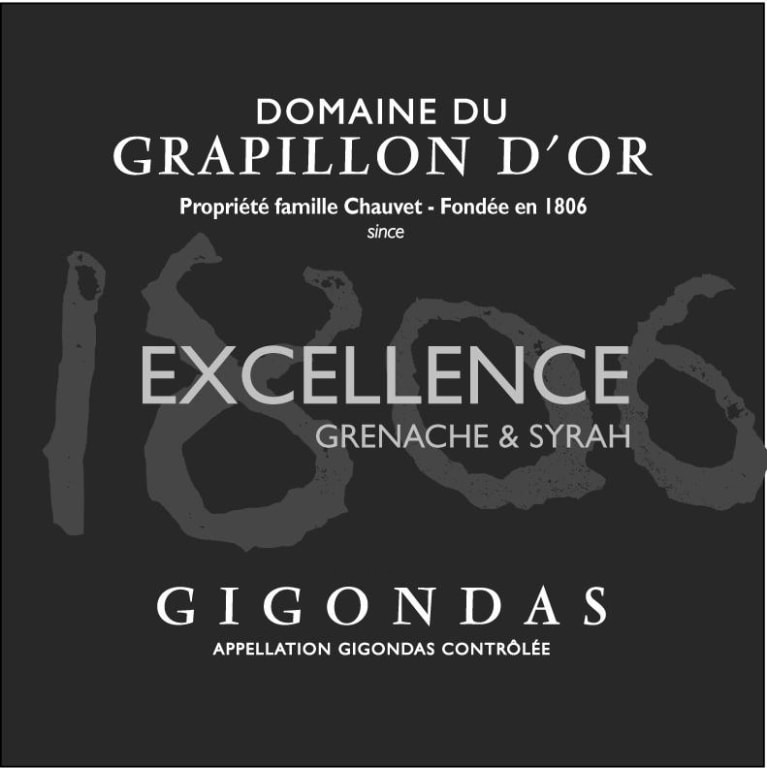 Dom. Du Grapillon d'Or Gigondas Excellence 2015 Front Label