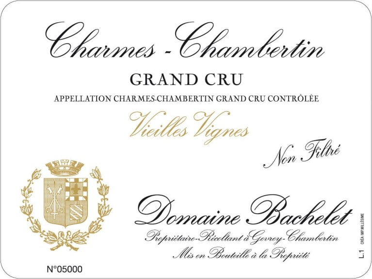 Domaine Denis Bachelet Charmes-Chambertin Grand Cru Vieilles Vignes 2016 Front Label