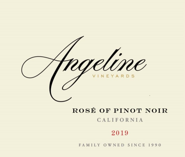Angeline Rose of Pinot Noir 2019  Front Label