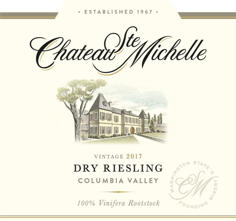 Chateau Ste. Michelle Dry Riesling 2017 Front Label