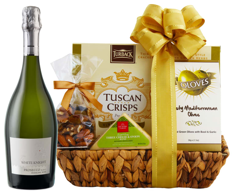 90 Point Prosecco & Cheese Gift Basket