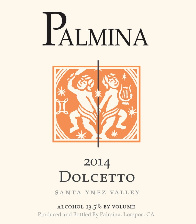 Palmina Dolcetto 2014  Front Label