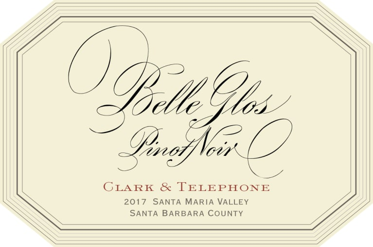 Belle Glos Clark and Telephone Vineyard Pinot Noir 2017  Front Label