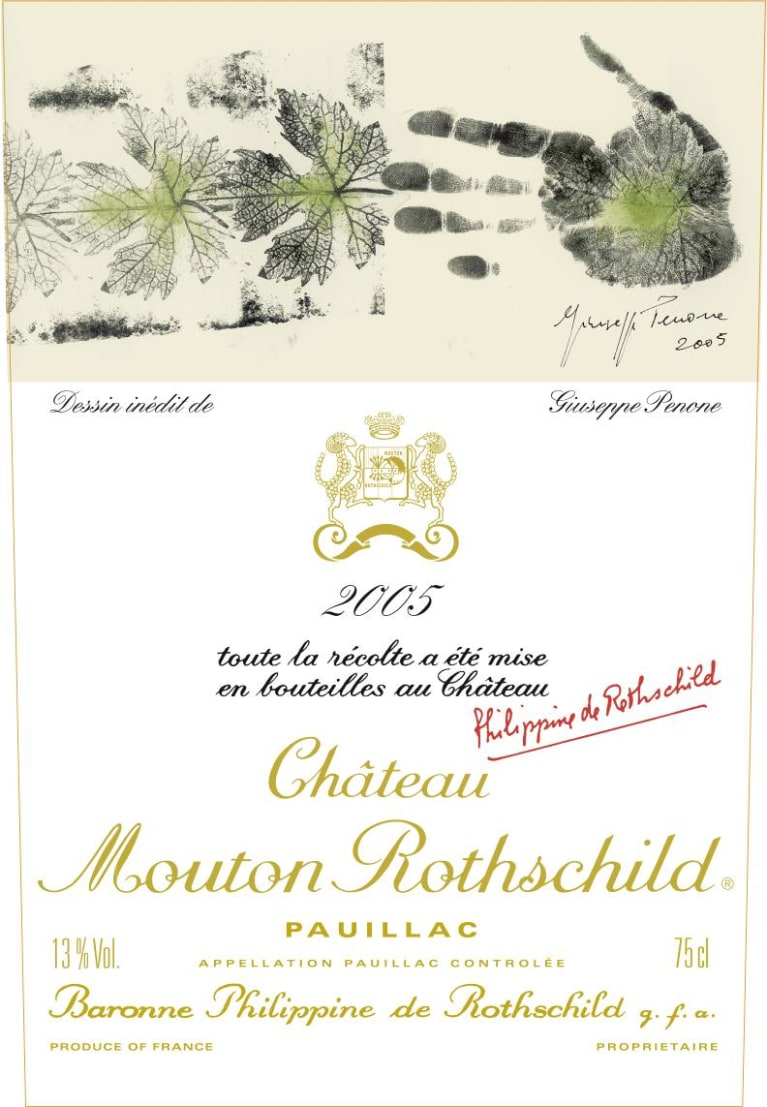 Chateau Mouton Rothschild (cut capsule) 2005 Front Label