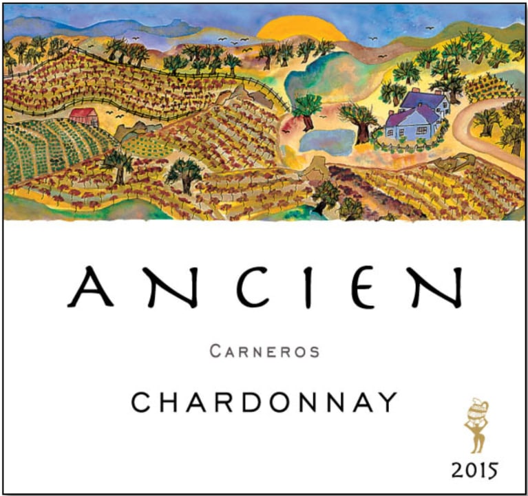 Ancien Wines Chardonnay 2015 Front Label