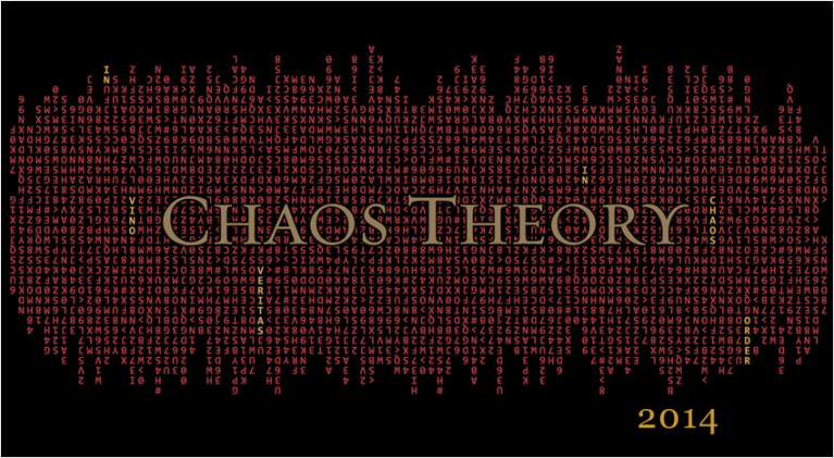 Brown Estate Chaos Theory 2014 Front Label