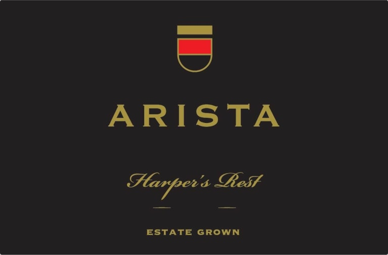Arista Winery Harper's Rest Vineyard Pinot Noir 2014  Front Label
