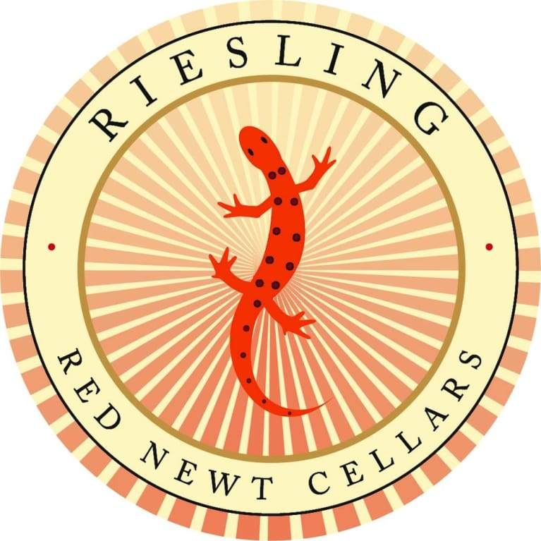 Red Newt Cellars Circle Riesling 2016 Front Label