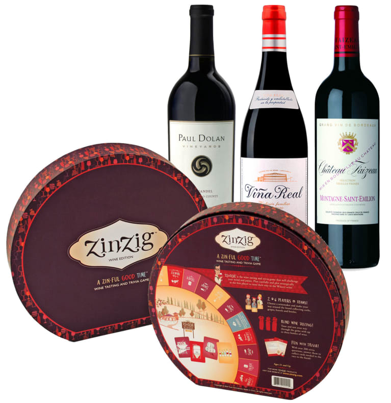 wine.com 90 Point Red Wine Gift Set & Wine Tasting Game  Gift Product Image
